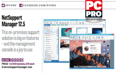 PC Pro scores NetSupport Manager 5 out of 5