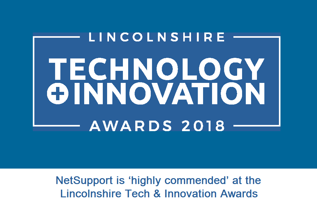 NetSupport is 'highly commended' at the Lincolnshire Tech & Innovation Awards