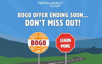 NetSupport Manager BOGO offer ends next week!
