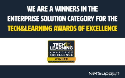 NetSupport DNA is a winner in the Tech & Learning Awards of Excellence!