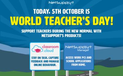 NetSupport is celebrating World Teachers' Day!