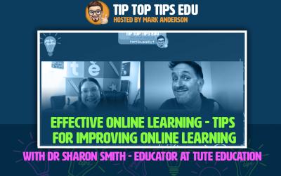 Learn how to improve online learning on #TipTopTipsEdu podcast!