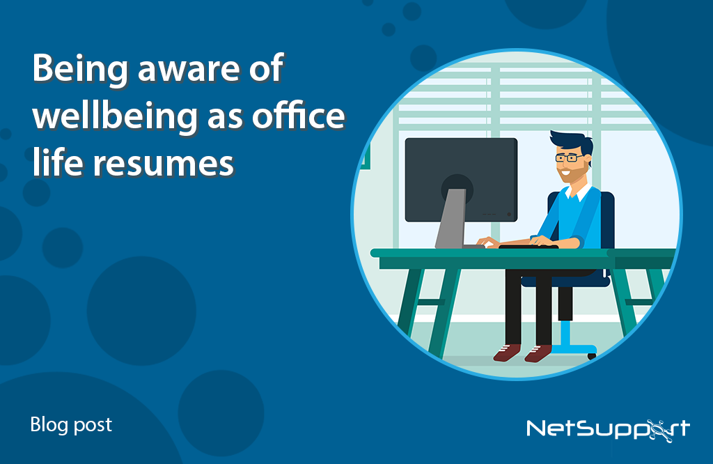 Being aware of wellbeing as office life resumes