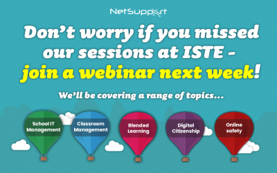 Missed us at ISTE? Why not join one of our webinars?
