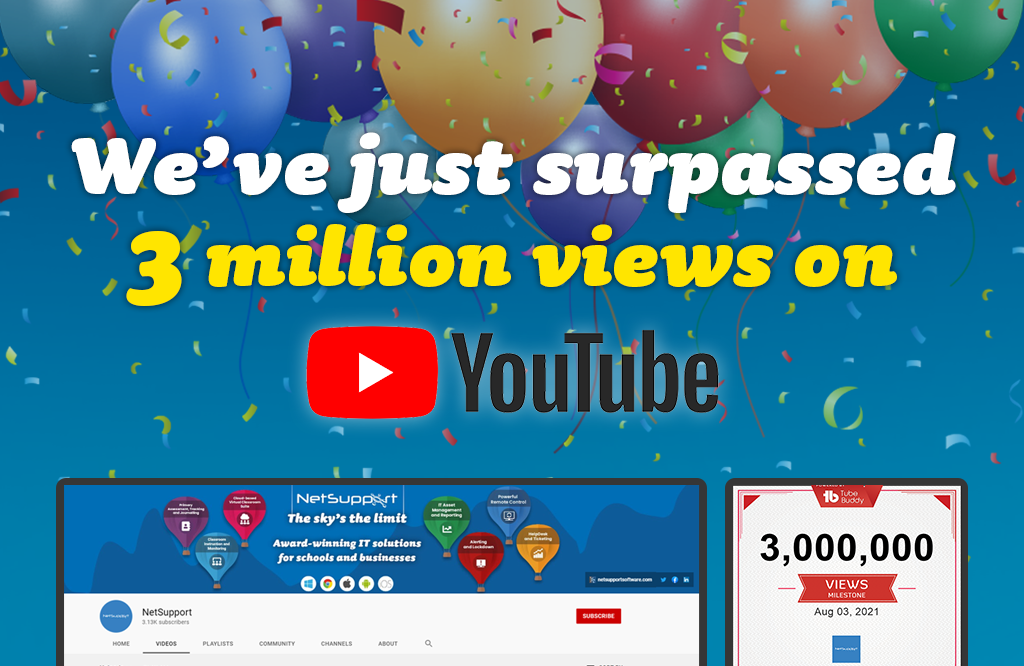Our YouTube channel has surpassed 3 million views!