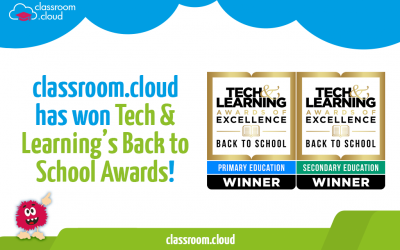 classroom.cloud won Tech & Learning's Back to School Awards
