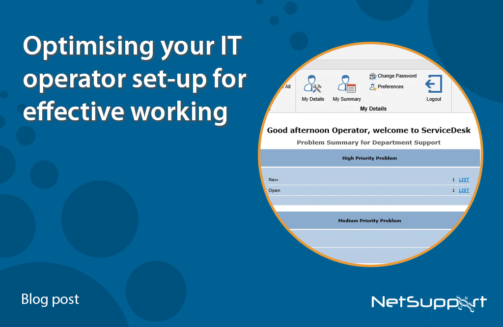 Optimizing your IT operator set-up for effective working